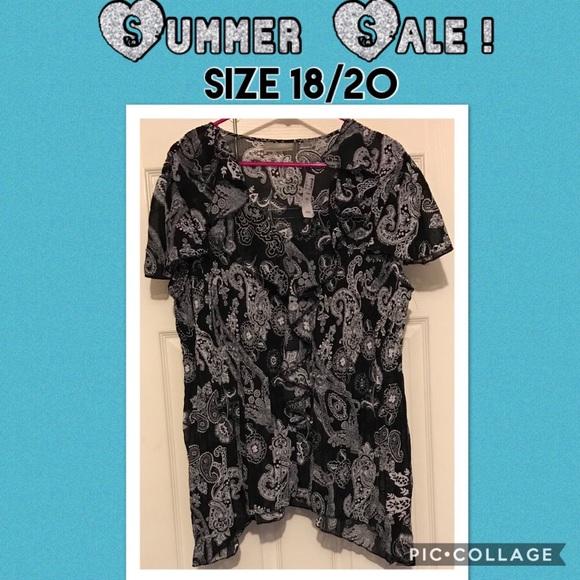55152e3a Avenue Tops | Nwt Beautiful Womens Size 1820 Print Shirt | Poshmark